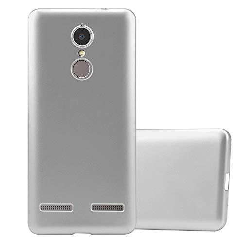 Cadorabo Hülle für Lenovo K6 / K6 Power in METALLIC Silber - Handyhülle aus flexiblem TPU Silikon - Silikonhülle Schutzhülle Ultra Slim Soft Back Cover Case Bumper