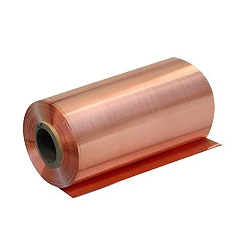 TONGXU 1 Rollo de Lámina de Cobre Puro al 99.9% Lámina de Metal de Cobre Puro Cu 0.05 x 200 x 1000 mm para Artesanía Aeroespacial