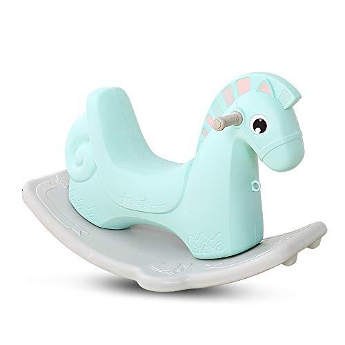 NXYJD Rocking Horse Trojan Children's Toy Rocking Horse Plastic Band Music Baby Rocking Chair Thicken Birthday Gift