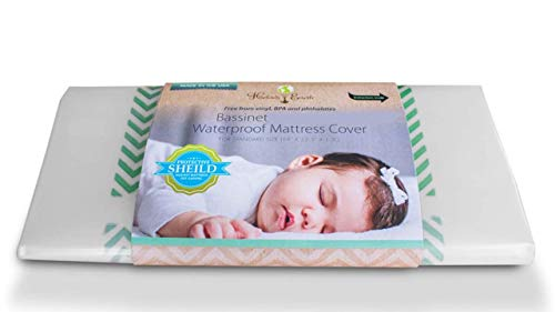Harlows Earth Crib Bassinet Mattress Cover- Waterproof -Safe Sleep Protection from Toxic Mattress Off Gassing, Impermeable Barrier Between Chemicals and Your Baby