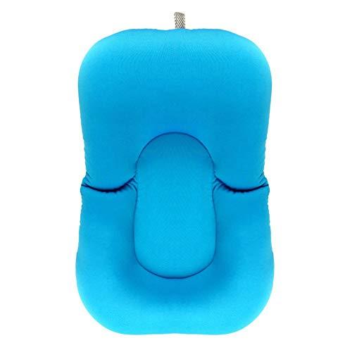 Nvfshreu Fußmatte Baby Badematte Baby Badewanne Neugeborenes Bad Kissen (Blau) Hochwertig Einfacher Stil Täglich Home Retro rutschfest Fußabtreter (Color : Blau, Size : Size)
