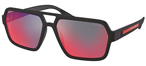 Prada Gafas de Sol Linea Rossa LINEA ROSSA SPS 01X Rubber Black/Grey Red 59/16/145 hombre