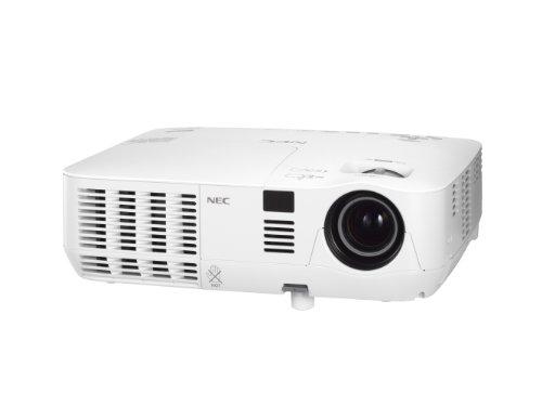 NEC V300W DLP Projektor 3D 3.000 ANSILumen WXGA 2.000:1 1.280x800 4:3 HDMI analog 34dB 1x7W LAN Portable