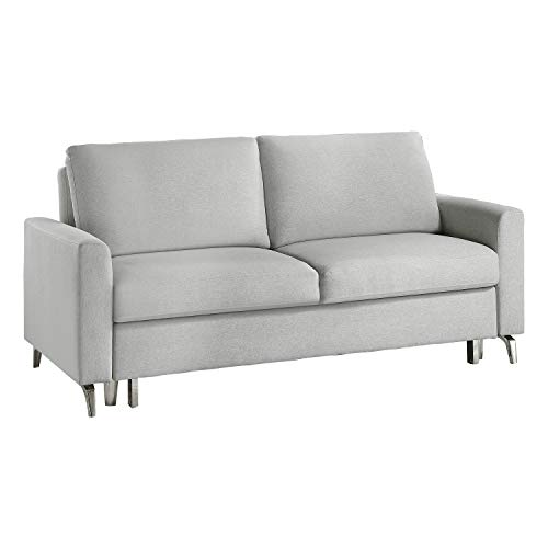 Lexicon 78' Convertible Studio Sofa with Pull-Out Bed, Gray