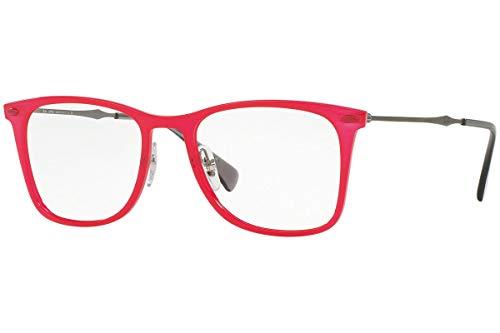 Ray-Ban RX7086 Brillen 49-18-140 Rot 5641 Mit Demonstrationsgläsern RX 7086 RB7086