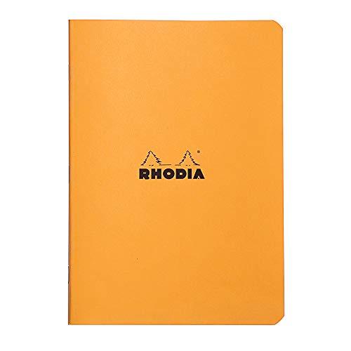 ロディアホチキス留めノートA5クラシック横罫オレンジcf119188