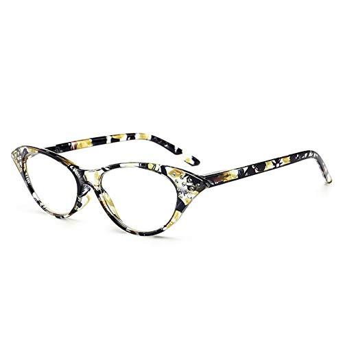 Mode Cat Eye Strass Stud Presbyopie Brille T18158 für Männer und Frauen das ältere Geschenk Oma Opas Glassses - gelb