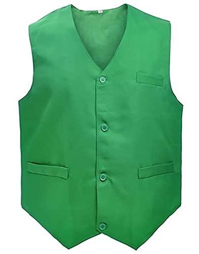 Loki 2021 Tom Hiddleston Chaleco Verde, Chaleco de algodón verde, XXXL