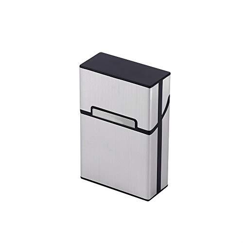 LKHF 1 Pieza para Fumar Cigarrillos Porta Cigarrillos de Aluminio, Recipiente para Tabaco, Caja de Bolsillo 1 Pieza, para Fumar Estuche para cigarros, Porta Tabaco, Caja de Bolsillo