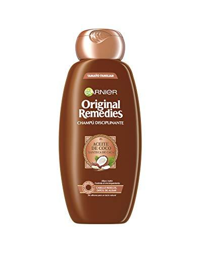 Garnier Original Remedies - Champú Disciplinante con Aceite de Coco y Manteca de Cacao para Pelo Rebelde y Difícil de Alisar - 300 ml