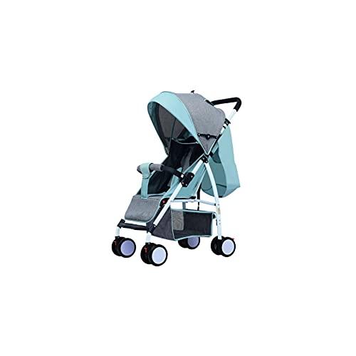 Tokujn Cochecito, Cochecito Ligero, Plegado Compacto, Compatible con Asientos para bebés, para Almacenamiento, fácil de Transportar, Posiciones de inclinación múltiple, Cochecito de Viaje