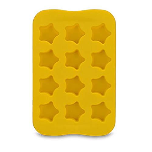 12 Slot-Silikon-Schokoladen-Gelee-Form-Behälter-Stern/Herz/runde/quadratische Form DIY Pudding Hersteller-Form-Freeze-Eiswürfel Platte Drop Ship 1C