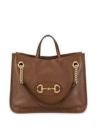 Luxury Fashion | Gucci Dames 6211441U10G2361 Bruin Leer Handtassen | Lente-zomer 20