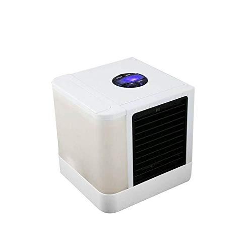 Atomisierung Bewegliche Klimaanlage, Mini-USB-Luftbefeuchter Raumkühler, beweglicher Flüsterleises 7-Farb-LED-Raumkühlluftreiniger for kleine Schlafzimmer Küche Tisch Reise Luftbefeuchter Lüfter