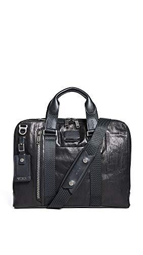 TUMI - Alpha Bravo Aviano Leather Laptop Slim Brief Briefcase - 15 Inch Computer Bag for Men and Women - Black