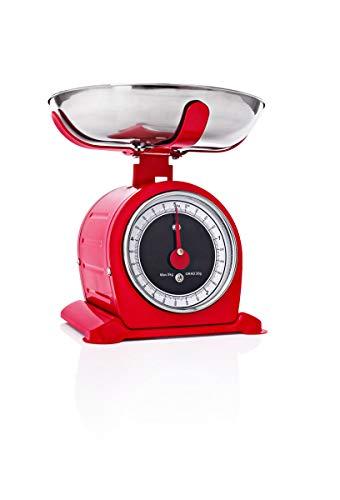 Báscula de cocina retro, joya nostálgica para tu cocina, hasta 5 kg,...