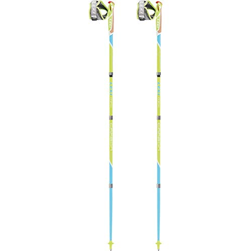Leki Micro Flash Bâtons de Running Mixte Adulte, Lime, 130 cm