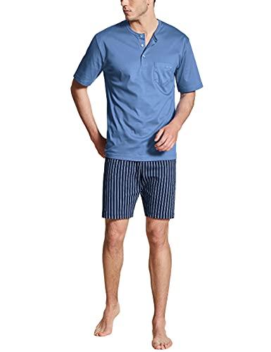 CALIDA Herren Relax Streamline 1 kurz Pyjamaset, Bay Blue, 50