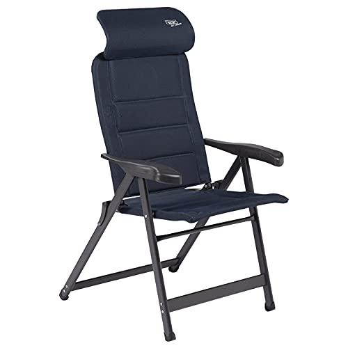 Crespo Camping Stuhl AP 237 Air Deluxe Garten Liege Stuhl Klappstuhl Alu 140 kg blau