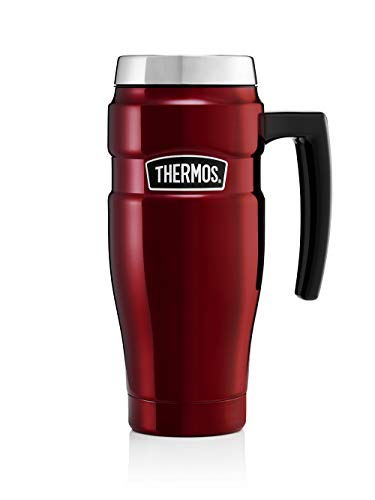 THERMOS Tasse Isotherme en INOX 470 ML, Rouge Cranberry, 0,47 l