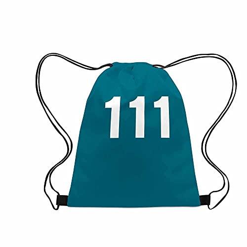LDMD Squid Game Series Drawstring Bags Gym Bag Travel Backpack,Waterproof Sport Lightweight Sackpack Shopping Yoga Sack, Number Printing Style Backpack (B2)