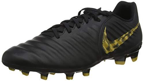Nike Herren Legend 7 Academy Fg Fußballschuhe, Schwarz (Black/Mtlc Vivid Gold 077), 45.5 EU