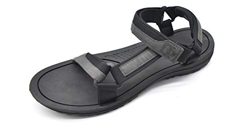 KuaiLu Heren Wandelen Sandalen Leder Ultralichte Verstelbare Klittenband Vrijetijds Mannen Modieuze Sandals Zomer Open Teen Strand Zwembad Schoenen
