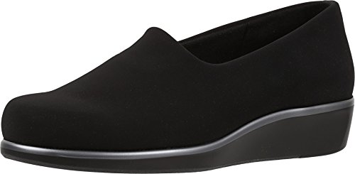 SAS Women's Bliss Slip On Casual Wedge Shoes, Black, 9.5 X-Wide