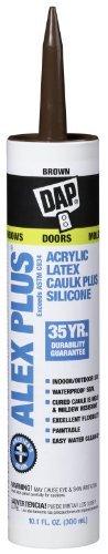 Dap 18112 ALEX PLUS Acrylic Latex Caulk Plus Silicone - Brown 10.1-oz Cartridge (18120)