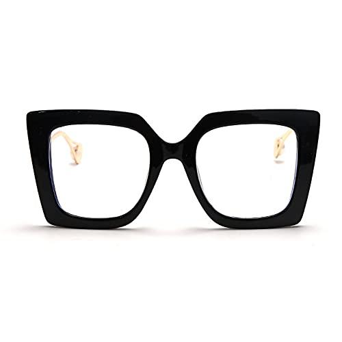 ShSnnwrl Único Gafas de Sol Sunglasses Gafas Vintage para Mujer Y Hombre, Gafas Cuadradas Transparentes, Montura De Anteojos Ópti