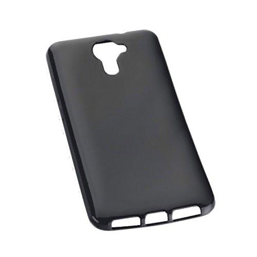 Titan Mobilfunk Zubehör Dark Hülle Style - Silikon TPU Handy Cover kompatibel mit Wiko U Feel Prime - Hülle Schale Schutz Schutzhülle in Schwarz