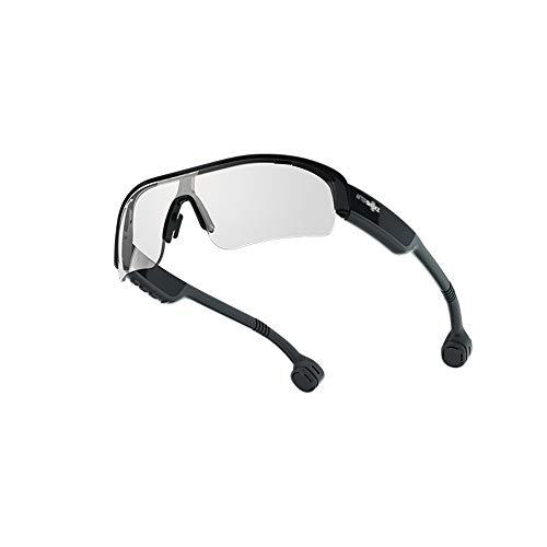 YML botkabel, bluetooth, zonnebril, Head-Mounted, sporthoofdtelefoon, IP55, waterdicht en zweetbestendig, 6H levensduur van de batterij vervangbaar lens, wit