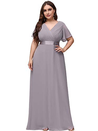 Ever-Pretty Women's Wedding Guest Dresses Formal Dresses Plus Size Gray US20