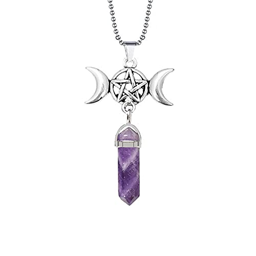 Marzo Diosa Cuarzo Hexágono Colgante En Punta Collar Aura Chakra Pentagrama Amuleto Amuleto Protección Collar Joyería