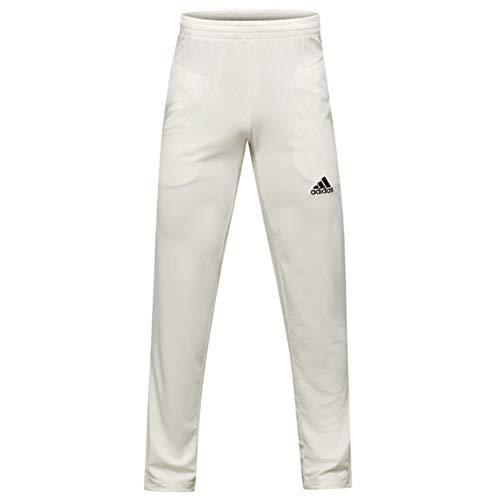 Adidas Howzat Herren Cricket-Hose, Weiß Gr. 44, weiß