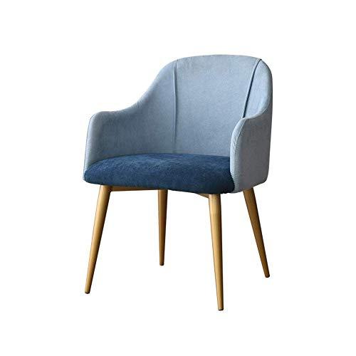 YLCJ Casa met rugleuning, voor slaapkamer, Lounge Chair, stof van ijzer, Nordic moderne stijl, minimalistische stoel (kleur: F) F.