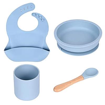 Amazon - 40% Off on  Baby Feeding Set, Silicone Dinner Plate Set Silicone Tableware Set
