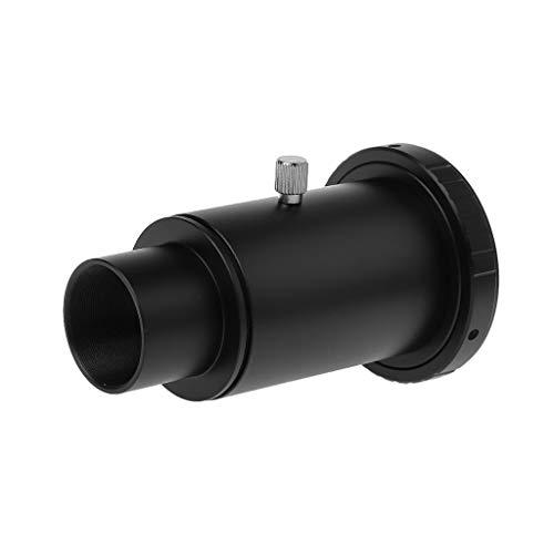 Catyrre - Adaptador de aluminio T2 para telescopio (1,25 pulgadas, compatible con cámaras Sony/Minolta A), color negro