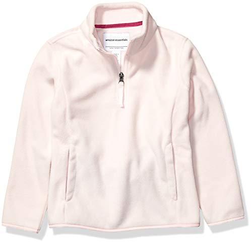 Amazon Essentials Quarter-Zip Polar Fleece Jacket Outerwear-Jackets, Rosado claro, Medium