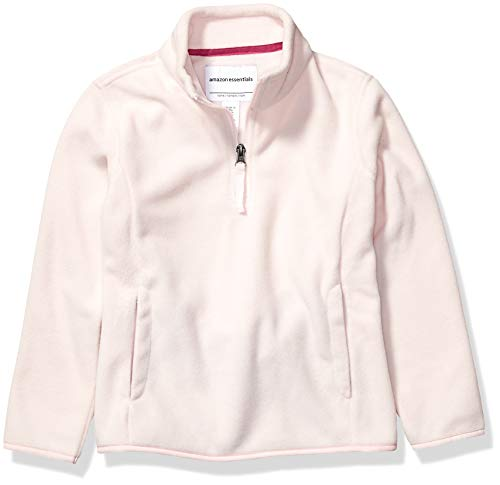 Amazon Essentials Quarter-Zip Polar Fleece Jacket Veste en polaire, Rose Clair, M (M (8)