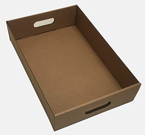 Desconocido Caja de cartón (Bebidas Cajas marrón Vegetal Herb producir bandejas de Almacenamiento Cervezas 16'x 10.5' x 4'(40x 26x 10) cm