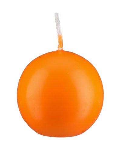 Bougie boule Orange 6 cm, 16 bougies