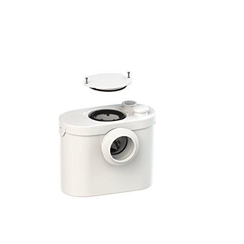 SFA SANIBROY 0001UP Fäkalienhebeanlage / WC-Förderanlage UP | Anlage zum Fördern von Schmutzwasser aus der Toilette | Förderdistanz: 100x4m, Wasser 40°, 400 Watt, 220-240 Volt