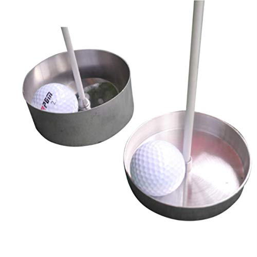 Golf gat cup 304 roestvrij staal groene golfbaan gat cup 2cm 4cm