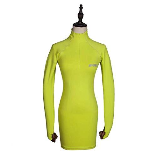 Justtime sportieve jurk met lange mouwen met reflecterend letterpatroon Medium groen