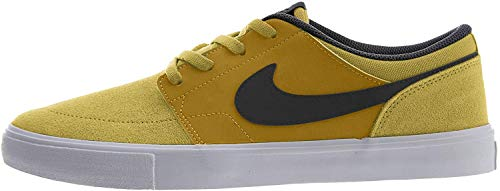 Nike SB Portmore II Solar, Zapatillas de Skateboard Unisex Adulto, Multicolor (Wheat/Black/White 700), 49 1/2 EU
