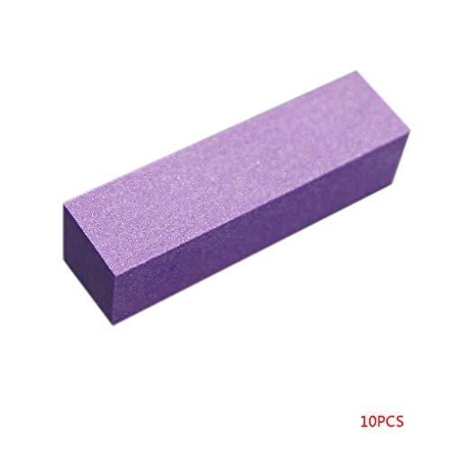 Babysbreath17 10pcs / Set éponge Ponçage Nail Bloc de buffers fichiers Bloc de broyage de Polissage de manucure Nail Art Outil Violet
