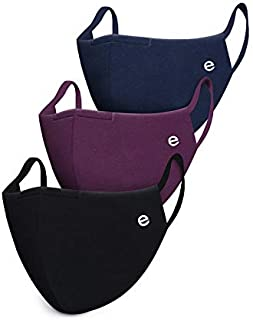 Enamor Adult's Cotton Outdoor Mask (Pack of 3)