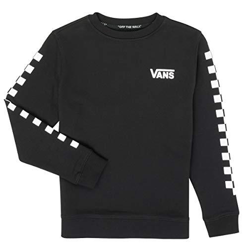Vans EXPOSITION CHECK CREW BOYS Suéter pulóver, Negro (, XL para Niños