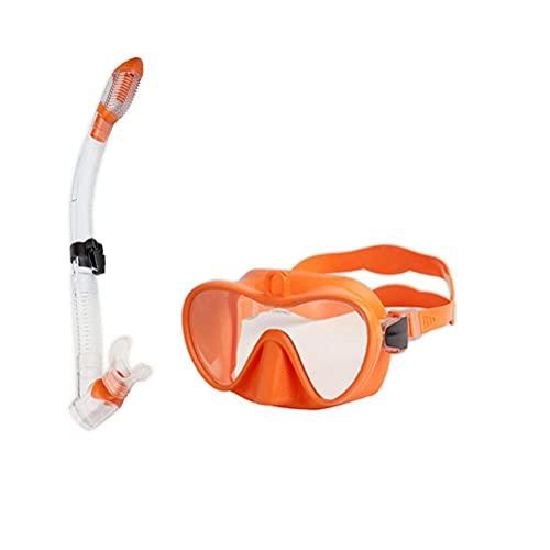 Kagodri Máscara de esnórquel, gafas antideslizantes y a prueba de fugas con soporte, fácil de respirar gafas de adulto